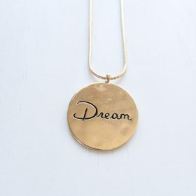 Gold Dream Inspirational Neklace