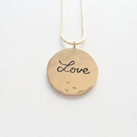 Gold Love Inspirational Necklace