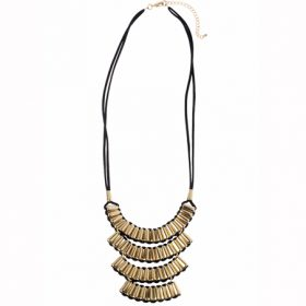 Black and Gold Aztec Necklace