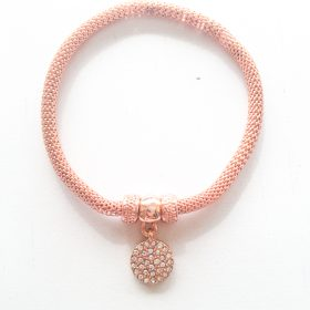 rose gold snake chain bracelet-2