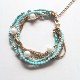 turquoise and gold bracelet-1
