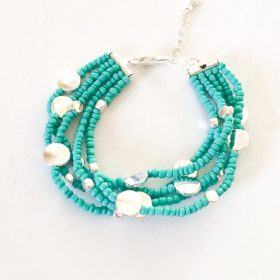 turquoise and silver bracelet-1